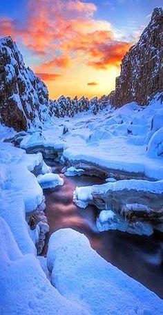 WINTER SNOW SUNSET  by Daniel Herr www.500px.com