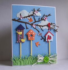 Birdhouse Birdies IC485, QFTD254 by kiagc - Cards and Paper Crafts at Splitcoaststampers