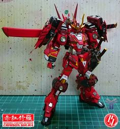 1/144 HG Sengoku Unicorn Gundam Crimson Shura ( 赤红修羅 ) | Team Nexus
