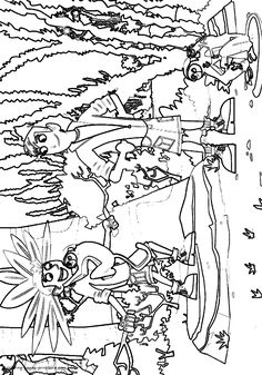 Declarative image pertaining to wild kratts printable coloring pages