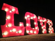 20 DIY Carnival Theme Wedding Ideas | Confetti Daydreams. . (Above) DIY Vintage Carnival Marquee Letters - Ruffled shares an easy tutorial to create a glowing marquee sign like this one seen here by West Vintage Trading Company with lightbulbs, which can be used as a great backdrop.