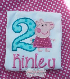 Normal Peppa Pig Birthday Custom Tee Shirt - Customizable - Infant to Youth by JMehargDesigns on Etsy