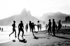 """O Jogo Bonito"" The Beautiful game Ipanema Beach, Rio de Janeiro, Brasil"