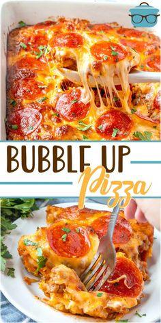 Bubble Up Pizza, Italian Recipes, Beef Recipes, Cooking Recipes, Pizza Recipes, Cooking Tools, Chicken Recipes, Easy Casserole Recipes, Easy Dinner Recipes