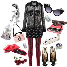 """To pull teeth, write love letters and play with toys.."" by velvetvolcano on Polyvore"