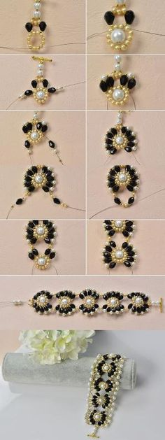 flower beaded bracelet, beautiful, right? Then LC.Pandahall.com will tell you the making details   Jewelry Making Tutorials & Tips 2   Pinterest by Mrs. C.Jackson