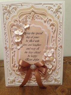 Spellbinders elegant lables four card with sue wilson die for the flowers