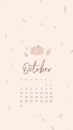 October 2021 Wallpapers for iPhone iPad Desktop Free Download Aesthetic Fall Calendar