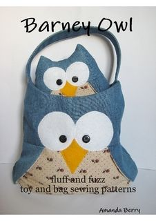 Barney Owl sewing patterns