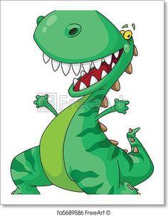 cheerful dinosaur - Artwork  - Art Print from FreeArt.com