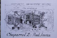 Chaparral 2C Cutaway