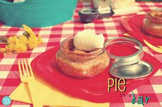 Pie in a jar, make, freeze, take out put in oven!