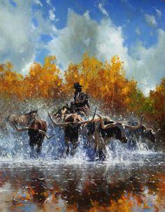 Robert Hagan 1947   Australian Impressionist painter   Western painting