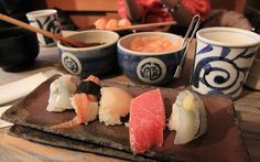 2nd serving of 'omakase': (from left) ika (squid), 'i don't know what i'm…