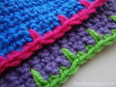 How to #Crochet Blanket Stitch Edging