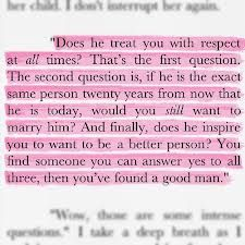 3 questions to say yes to before you get married...from the book SLAMMED by Colleen Hoover