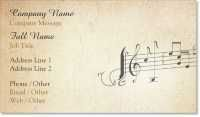 music music note Standard Business Cards