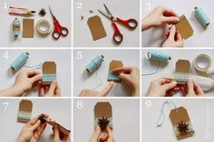 DIY: Easy Peasy Geschenkanhänger mit Anissternen und Garn | Alles und Anderes Winter Diy, Do It Yourself Inspiration, Easy Peasy, Gift Tags, Diy Home Decor, Easy Diy, Creations, Scrapbook, Drop Earrings
