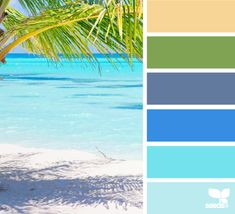 mental vacation - color palette from Design Seeds Scheme Color, Colour Schemes, Colour Palettes, Color Combos, Beach Color Schemes, Bathroom Colors Blue, Bathroom Yellow, Bedroom Colors, Palette Design