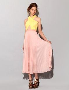 skirt, plissada