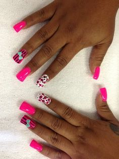 3D Bow Nail Designs   Duck feet acrylics, nail design, and 3D bow by LILY   Yelp
