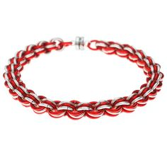 Tutorial - How to: Candy Cane Chain Maille Bracelet | Beadaholique
