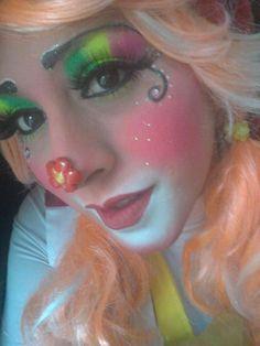 Disfraz, Fantasia Circo, Maquillaje De Payaso Lindo, Trajes De Payaso,  Petunias, Payasos, Neón, Pagliacci, Costume