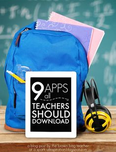 9 apps that all teachers - regardless of grade - should have on their iDevices.