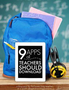 The Brown-Bag Teacher: Apps Every Teacher Should Have