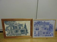 Framed One colored house Ginger & Spice Design
