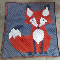 """2,304 Likes, 55 Comments - B.Hooked Crochet (@bhooked) on Instagram: """"Wow! Look how adorable this little fox corner to corner afghan is by @hookedbyamy! I hope you all…"""""""
