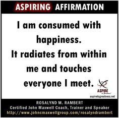 What will you affirm today I affirm that s