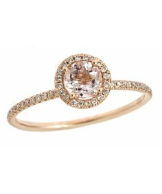 Meira T Diamond and Morganite Ring