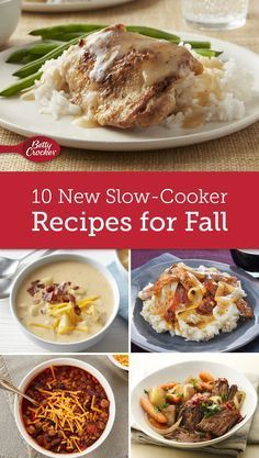 The slow-cooker is the key to getting out of a recipe rut. From new family favorites to easy and impressive dinners, Betty's got the recipes you'll be raving about this fall.