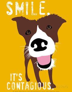 Sorriso, em inglês Impressão artística