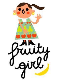 girl who loves fruit