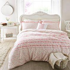 Emma Bridgewater Light pink floral and heart bedding set- | Debenhams