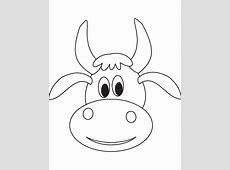 Cute Cow Face Coloring Page Download Free Cute Cow Face