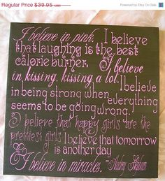 Mad4Grads Super Sale I believe in Pink Audrey by everlastingdoodle, $29.96