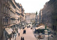Items similar to Vintage Photo of Vienna Wien, The Graben Austria 1895 on Etsy Belle Epoque, Congress Of Vienna, Austrian Empire, Austro Hungarian, Old London, Vienna Austria, Fantasy Illustration, Historical Photos, Vienna