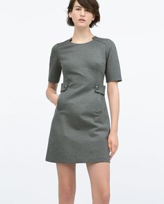 Image 2 of BUTTON TAB WAIST DRESS from Zara