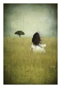 Field of dreams - Illustration print - Maja Lindberg (hva) Art And Illustration, Illustrations, Field Of Dreams, Dream Art, Pics Art, Whimsical Art, Love Art, Oeuvre D'art, Fantasy Art