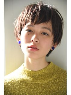 Pin on 髪型 Asian Short Hair, Girl Short Hair, Short Hair Cuts, Short Hair Styles, Cute Hairstyles For Short Hair, Hairstyles With Bangs, Easy Hairstyles, Haircut And Color, Love Hair