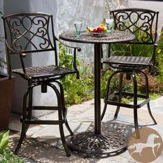 acadia 4 person sling patio bar set by lakeview outdoor designs