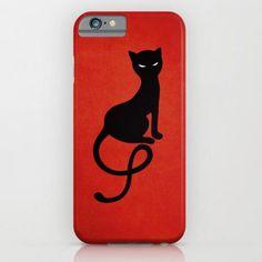 "Red Gracious Evil Black Cat iPhone Case ""Boriana Giormova"" #halloween Price : $35"