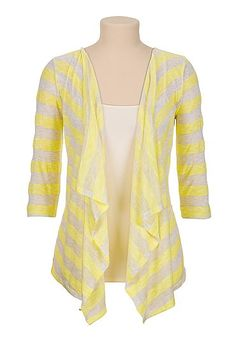 Open front lightweight striped cardiwrap (original price, $29) available at #Maurices