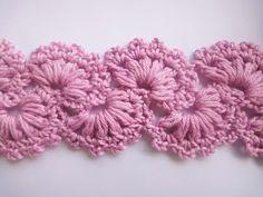 Crochet lace tape Ленточное кружево Вязание крючком  Урок 351 - YouTube
