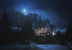 A night at Gamlehaugen..........by Wim Lassche #Norway #Goodnight