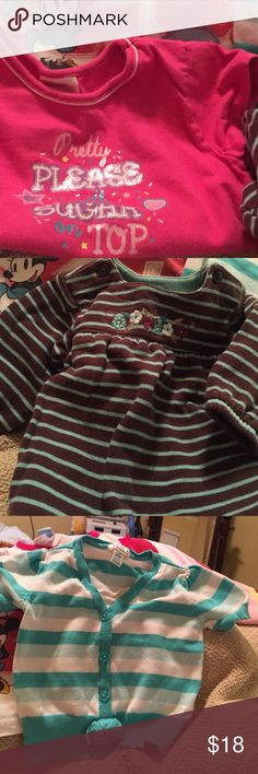 Cute fancy tops in EUC Dressy, great sayings, & fun to wear!for sale indivually or bundled! Make me a deal! The Childrens Place Carters Shirts & Tops