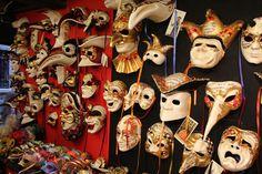 Paper mache masks from Ca Macana in Venice